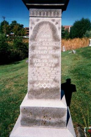 KENNEDY, ANN AND PATRICK - Wapello County, Iowa   ANN AND PATRICK KENNEDY