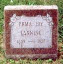 JOHNSON LANNING, ERMA - Wapello County, Iowa | ERMA JOHNSON LANNING