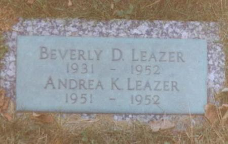 LEAZER, BEVERLY DARLENE - Wapello County, Iowa | BEVERLY DARLENE LEAZER