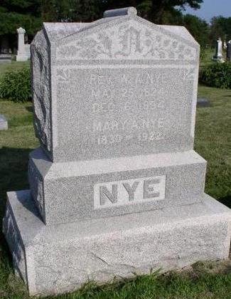 HOYT NYE, MARY - Wapello County, Iowa | MARY HOYT NYE