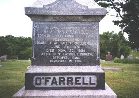 O'FRARRELL, REV. JOHN - Wapello County, Iowa | REV. JOHN O'FRARRELL