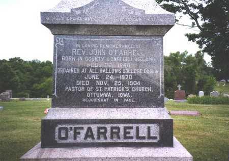O'FRARRELL, REV. JOHN - Wapello County, Iowa | REV. JOHN O'FRARRELL