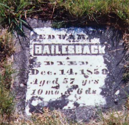 RAILSBACK, EDWARD - Wapello County, Iowa | EDWARD RAILSBACK