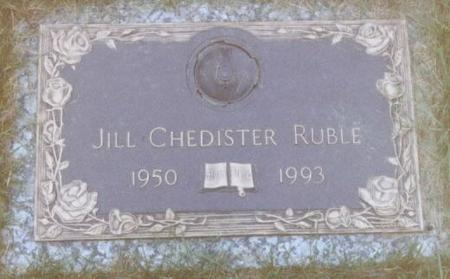 CHEDISTER RUBLE, JILL IRENE - Wapello County, Iowa | JILL IRENE CHEDISTER RUBLE