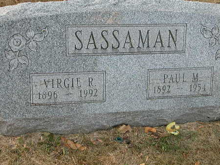 SASSAMAN, VIRGIE RUTH - Wapello County, Iowa | VIRGIE RUTH SASSAMAN