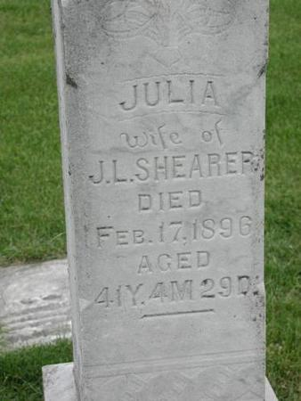 SHEARER, JULIA - Wapello County, Iowa | JULIA SHEARER