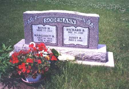 SODEMANN, MARGARET M. - Wapello County, Iowa | MARGARET M. SODEMANN