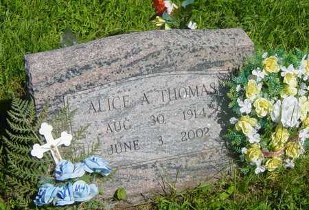 THOMAS, ALICE A - Wapello County, Iowa | ALICE A THOMAS