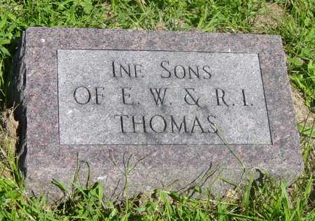 THOMAS, INFANT SONS OF E.W. & R.I. - Wapello County, Iowa | INFANT SONS OF E.W. & R.I. THOMAS