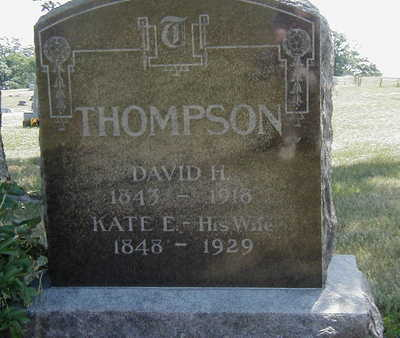 THOMPSON, DAVID H. - Wapello County, Iowa | DAVID H. THOMPSON