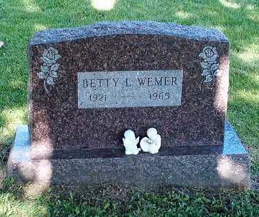 WEMER, BETTY - Wapello County, Iowa | BETTY WEMER