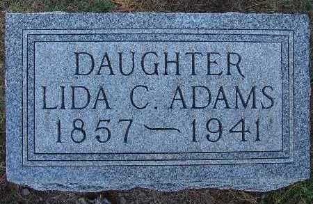 ADAMS, LIDA C. - Warren County, Iowa   LIDA C. ADAMS