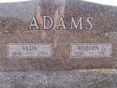 ADAMS, VEDA - Warren County, Iowa | VEDA ADAMS