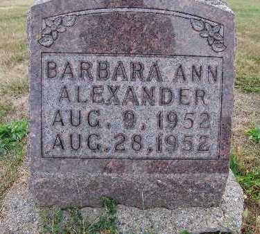 ALEXANDER, BARBARA ANN - Warren County, Iowa | BARBARA ANN ALEXANDER