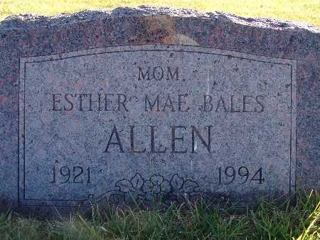 BALES ALLEN, ESTHER MAE - Warren County, Iowa | ESTHER MAE BALES ALLEN