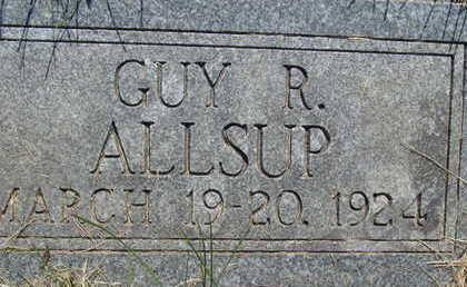 ALLSUP, GUY R - Warren County, Iowa | GUY R ALLSUP