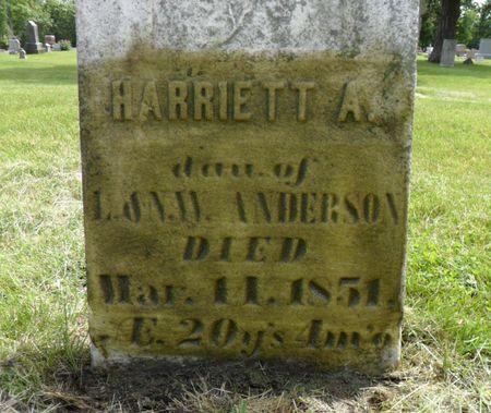 ANDERSON, HARRIETT A. - Warren County, Iowa | HARRIETT A. ANDERSON
