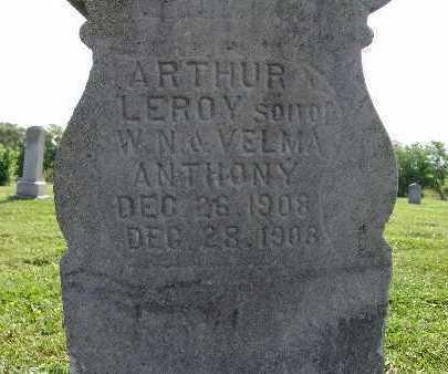 ANTHONY, ARTHUR LEROY - Warren County, Iowa   ARTHUR LEROY ANTHONY