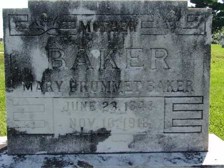 BAKER, MARY BRUMMET - Warren County, Iowa | MARY BRUMMET BAKER