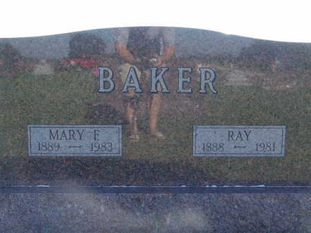 BAKER, MARY F - Warren County, Iowa | MARY F BAKER