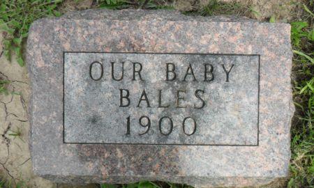 BALES, BABY - Warren County, Iowa | BABY BALES
