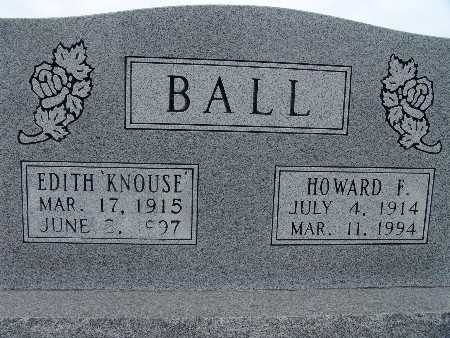 KNOUSE BALL, EDITH - Warren County, Iowa | EDITH KNOUSE BALL