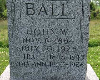 BALL, LYDIA ANN - Warren County, Iowa | LYDIA ANN BALL