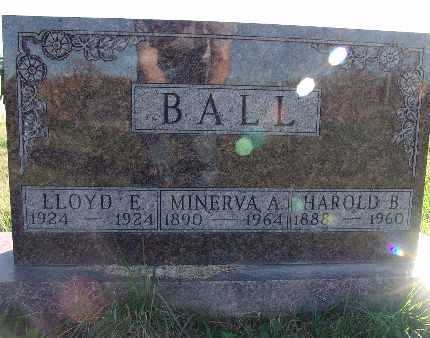 BALL, MINERVA A. - Warren County, Iowa | MINERVA A. BALL