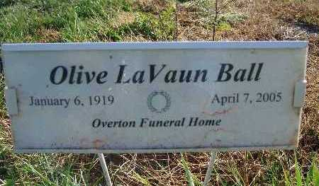 BALL, OLIVE LAVAUN - Warren County, Iowa | OLIVE LAVAUN BALL