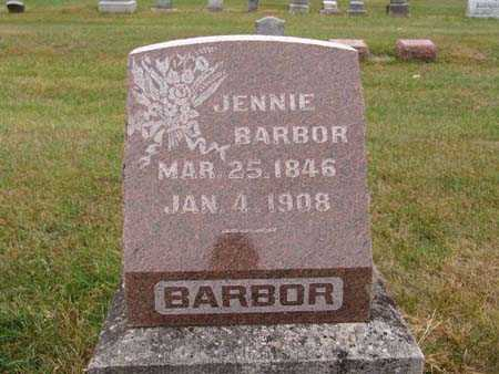 BARBOR, JENNIE - Warren County, Iowa | JENNIE BARBOR