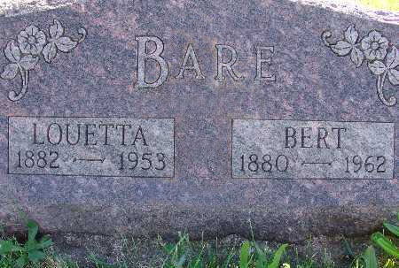 BARE, LOUETTA - Warren County, Iowa | LOUETTA BARE