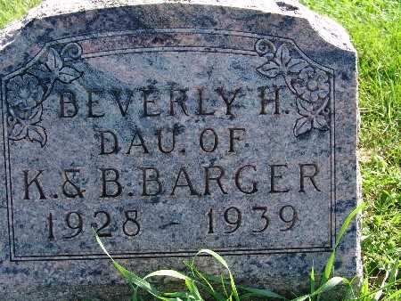 BARGER, BEVERLY H - Warren County, Iowa | BEVERLY H BARGER