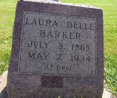 BARKER, LAURA BELLE - Warren County, Iowa | LAURA BELLE BARKER