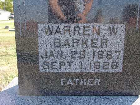 BARKER, WARREN W. - Warren County, Iowa | WARREN W. BARKER