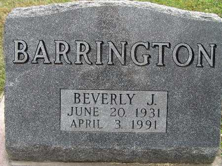 BARRINGTON, BEVERLY J. - Warren County, Iowa | BEVERLY J. BARRINGTON