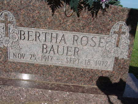BAUER, BERTHA ROSE - Warren County, Iowa | BERTHA ROSE BAUER