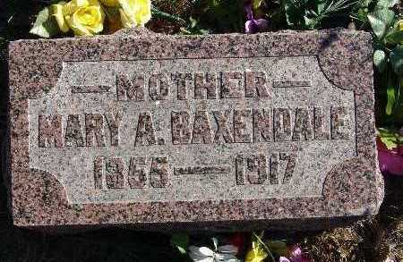 BAXENDALE, MARY A. - Warren County, Iowa | MARY A. BAXENDALE