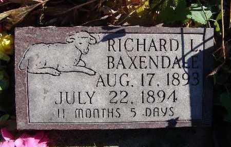 BAXENDALE, RICHARD L. - Warren County, Iowa | RICHARD L. BAXENDALE