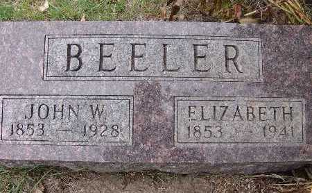 BLACK BEELER, ELIZABETH - Warren County, Iowa | ELIZABETH BLACK BEELER