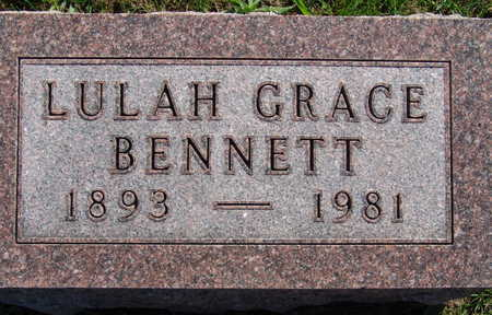 BENNETT, LULAH GRACE - Warren County, Iowa   LULAH GRACE BENNETT