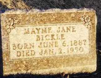 BICKLE, MAYME JANE - Warren County, Iowa | MAYME JANE BICKLE