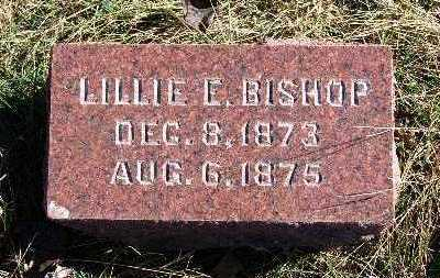 BISHOP, LILLIE E. - Warren County, Iowa | LILLIE E. BISHOP