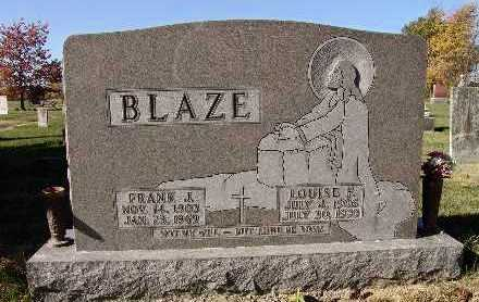 SMITH BLAZE, LOUISE FLORENCE - Warren County, Iowa | LOUISE FLORENCE SMITH BLAZE