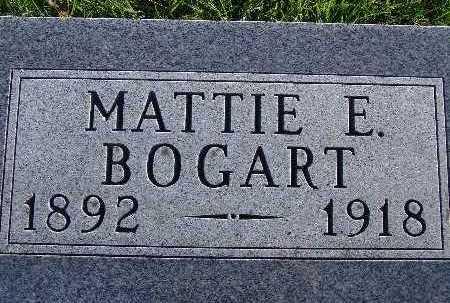 BOGART, MATTIE E. - Warren County, Iowa | MATTIE E. BOGART