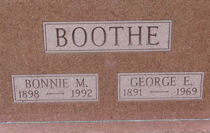 BOOTHE, GEORGE E. - Warren County, Iowa | GEORGE E. BOOTHE