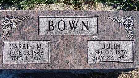 BOWN, CARRIE M. - Warren County, Iowa | CARRIE M. BOWN