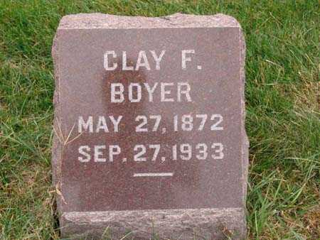 BOYER, CLAY F. - Warren County, Iowa | CLAY F. BOYER