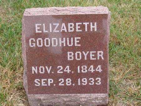 BOYER, ELIZABETH GOODHUE - Warren County, Iowa | ELIZABETH GOODHUE BOYER
