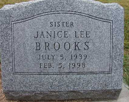 BROOKS, JANICE LEE - Warren County, Iowa   JANICE LEE BROOKS