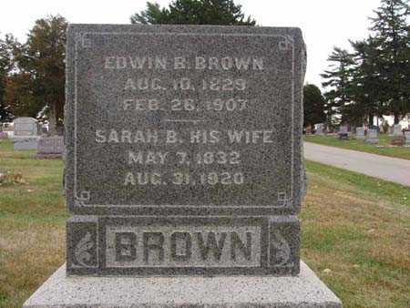 BROWN, SARAH B. - Warren County, Iowa | SARAH B. BROWN